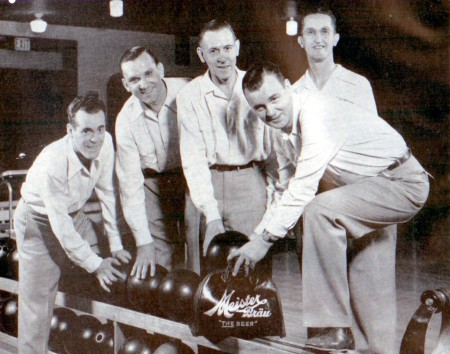 (L-R) Bill Hargadon, Harry Lippe, Bud Wright, Joe Sinke, Paul Krumske (capt)