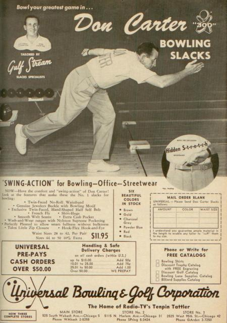 Don Carter Bowling Slacks