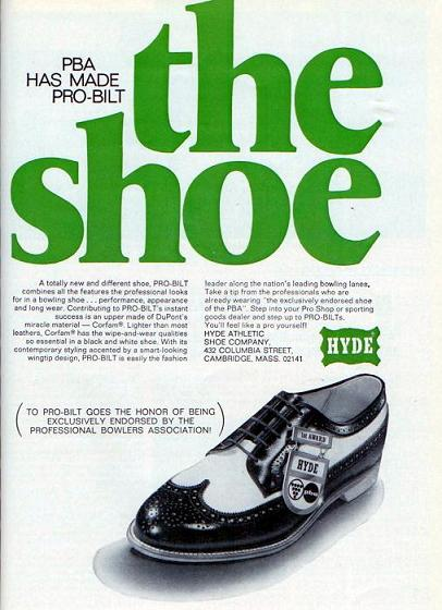 Hyde Bowling Shoes (1968) | Dr. Jake's Bowling History Blog