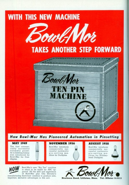 Bowl-Mor Automatic Pinsetter (1960)