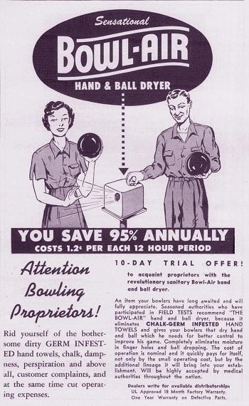 Bowl-Air Hand Dryer (1955)
