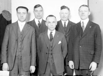 F.C. Harvey, Harry Alten, L.L. Lidley, C.H. Diehl, Red Irwin
