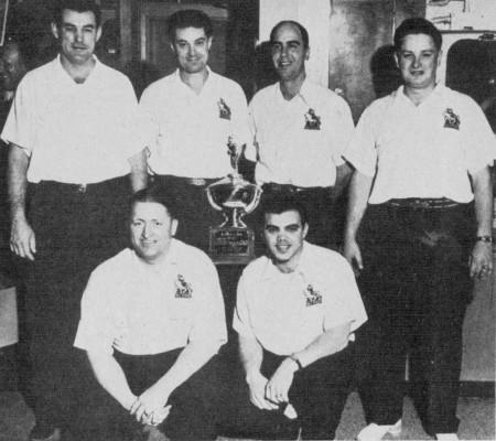FRONT--Whitey Harris, Ray Bluth  REAR--Frank Mataya, Frank Schalk, Pat Patterson, Chuck Lammlein