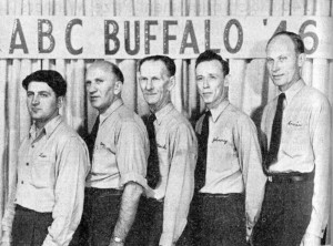 (L-R)--Leo Rollick, Ray Koukal, J.B. Mackenzie, Johnny Supple, Ernie Soest