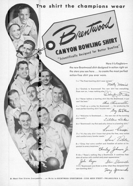 Brentwood Canyon Bowling Shirts (1949)