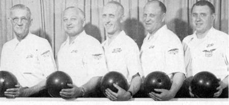 (L-R)--Sarge Easter, Hank Gavie, Cass Schlaff, Steve Morris, Chet Bukowski