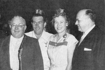 W.W. Edgar (Detroit BPA), Tom Hennessey, Val Mikiel,  Mayor Louis Miriani