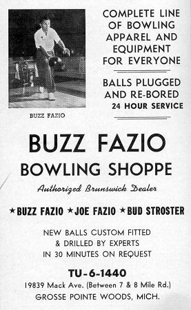 Fazio Bowling Shoppe (1961)