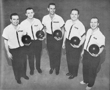 (L-R)--Ken Starnes, Charles Hughes, Berry Risinger, Jack Feese, Don Marshall