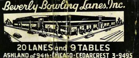 Beverly Lanes matchbook