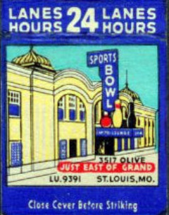 Sports Bowl matchbook