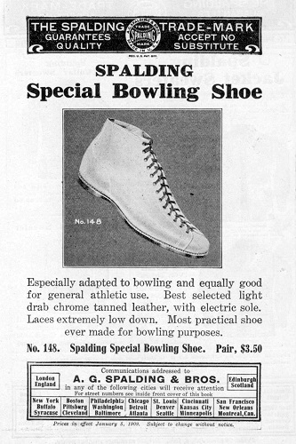 Spalding Bowling Shoes (1909)