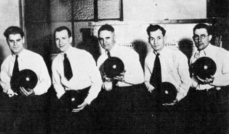 (L-R)--Tom Zavakos, Harry Rosenkranz, Howard Sanders, Curly Gaylor, Hal Stewart