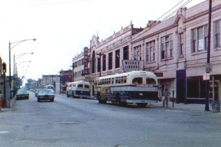 """"""" . . .  a tired old commercial strip along Milwaukee Avenue."""""""