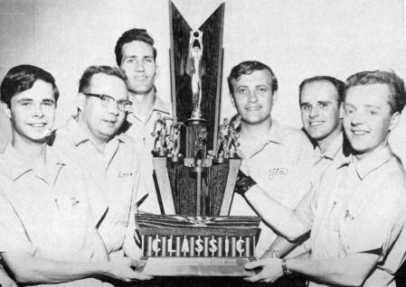 (L-R)--Tim Harahan, Don McCune, Therm Davis, Jim Stefanich, Steve Buell, Jimmy Mack
