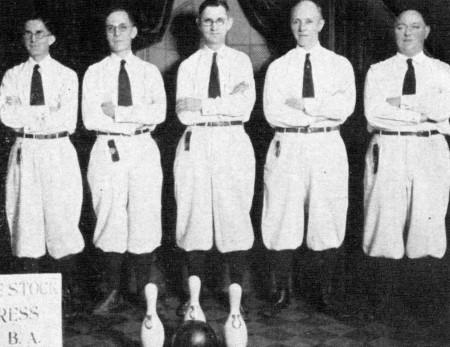 L-R--Joe Gauer, Elmer Baumgarten, H.C. Ormsberg, Herman Lehmpuhl, Al Sindelar