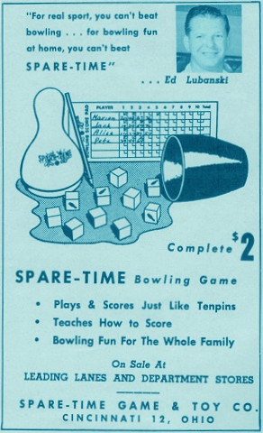 Lubanski for Spare-Time Bowling Game (1962)