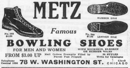 Metz Bowling Shoes (1929)