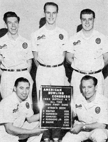 FRONT--John Ruggiero Jr, Pat Iannucci  REAR--Bill Gaume, Dave Soutar, Tom Harnisch