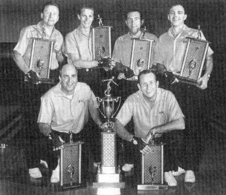 FRONT--Pat Patterson, Don Carter   REAR--Bill Lillard, Dick Weber, Tom Hennessey, Ray Bluth