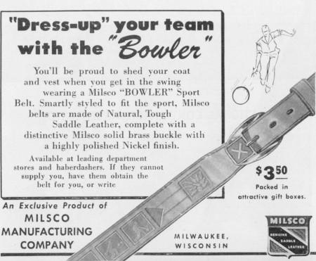 Milsco Bowler Belt (1947)