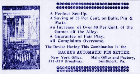 Backus Pinsetter (1907)