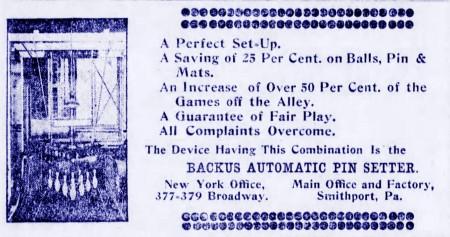 Backus Pinsetter (1907)