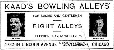 Kaad's Bowling Alleys (1916)