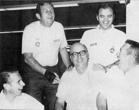 FRONT--Dick Weber, Pat Patterson, Tom Hennessey  REAR--Don Carter, Ray Bluth