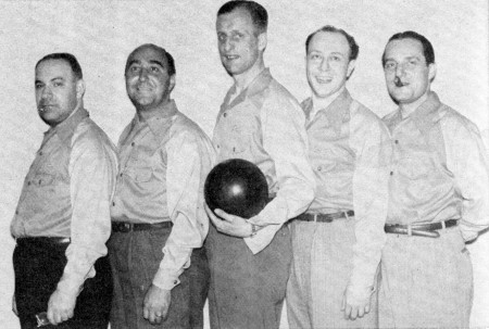 (L-R)--Angelo Biondo, Jim Segreti, Joe Kissel, Sam Weinstein, Byron Schoeman