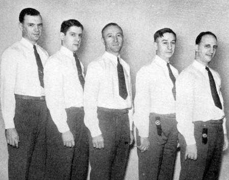 (L-R)--Ted Hjort, Harry Ledene, Alex Bartock, Frank Kartheiser, Bill Zelasco