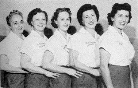 (L-R)--Ceil Winandy, Marie Sibley, Mae Ploegman, Kay Freitag, Ann Sherman